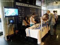 Плазменная панель на регистрации участников конференции